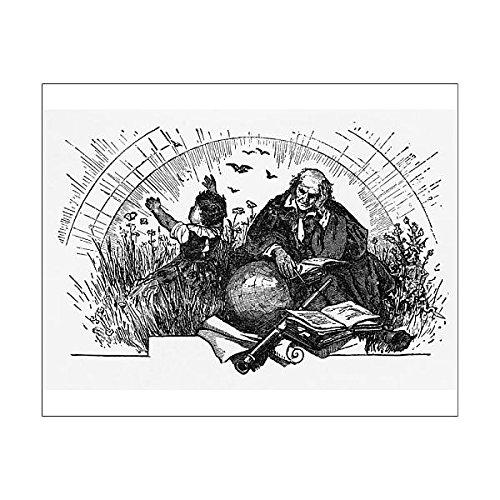 10x8 Print of Christopher Columbus Planning His Exploration Engraving, Circa 1892 (14757140) ()