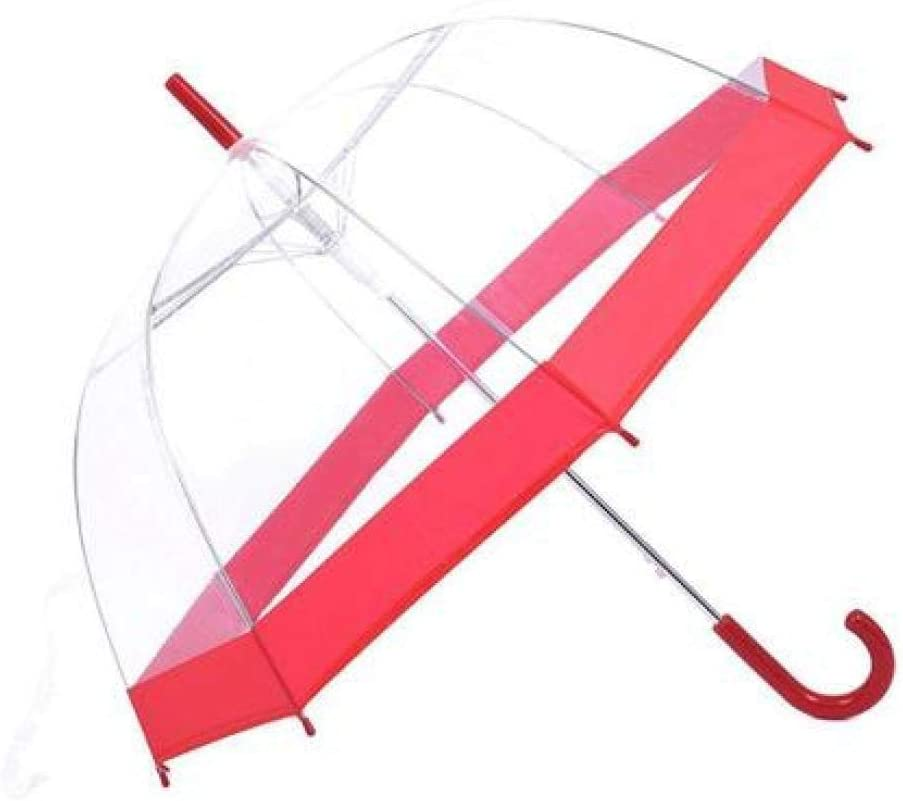 Color : Black YSLJH Long Handle Transparent Umbrella Princess Arched Mushroom Umbrella Outdoor Automatic Folding Umbrella Waterproof Windproof Umbrella Multicolor Optional