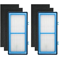 Colorfullife 2 + 4 Pack Filters for Holmes AER1 HEPA Type Total Air Filter Replacement Filters for HAPF30AT and HAP242-NUC, 2 HEPA + 4 Carbon Booster Filters