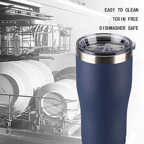 Jay Style 20 oz Stainless Steel Tumbler with Lid Double Wall Vacuum Insulated Travel Mug, Durable Insulated Coffee Cup for Home,Office,Outdoor,Ice Drink (Navy,1 Pack)