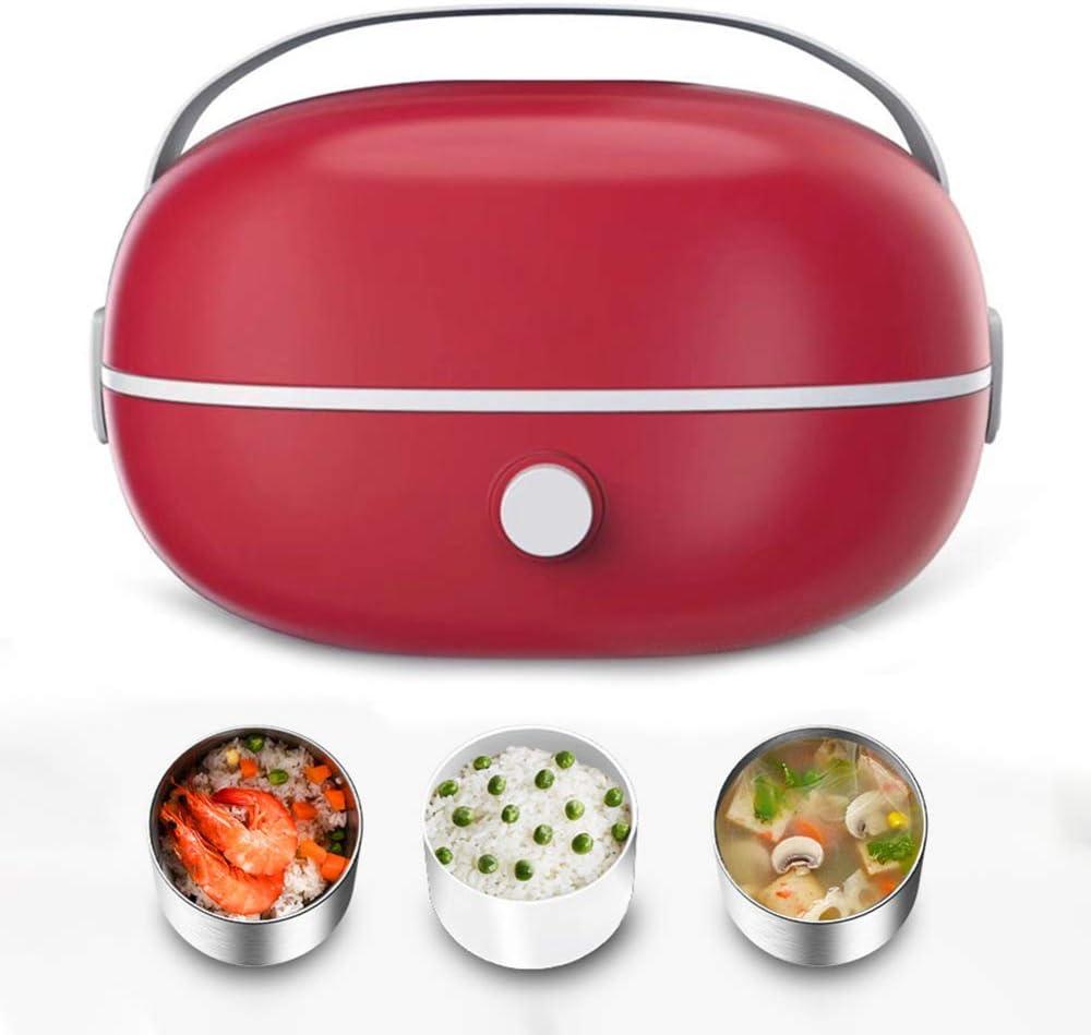 Lunch Box Chauffant 220V Bo/îte Repas Amovible en Acier Inoxydable Nobuddy Bo/îte Chauffante /Électrique Herm/étique pour Maison Bureau//Jaune