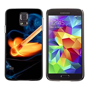 Designer Depo Hard Protection Case for Samsung Galaxy S5 / Cool Fire & Match