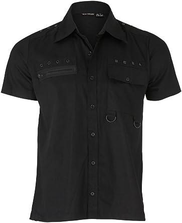 Dead Threads gótico Punk Heavy Metal Studded Hombres camiseta de manga corta negro: Amazon.es: Ropa y accesorios