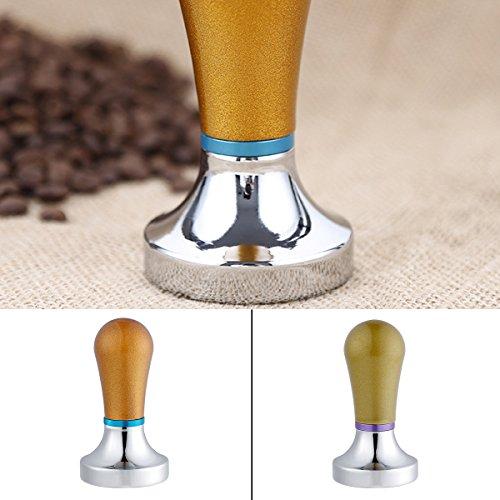 Coffee Tamper, Justdolife Kitchen Tamper Aluminum Flat Base Grip Handle Coffee Tamper Espresso Tamper2.2''