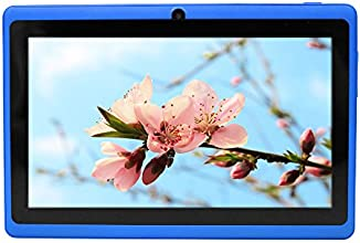 """Yuntab 7"""" 8G Y88 Allwinner A33 Android Quad-core Tablet PC, 1024*600 Capacitive, Google Android 4.4 with Dual Camera Google Play Pre-loaded, External 3G ,3D-Game Blue"""