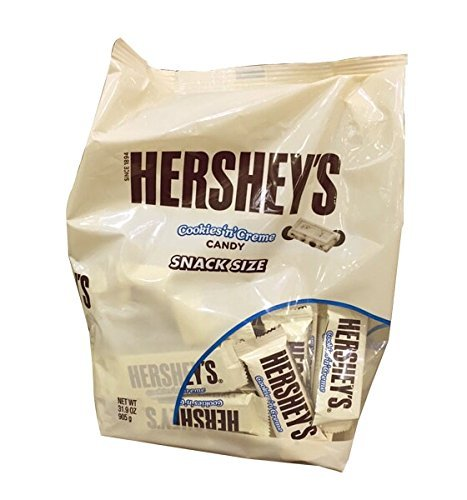 Halloween Kiss Cookies (Hershey's Cookies 'n' Creme Snack Size Bars (31.9 Ounce)