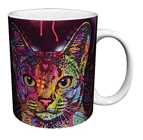 Cat Whiskers Modern Graffiti Animal Art Porcelain Gift Coffee Mug