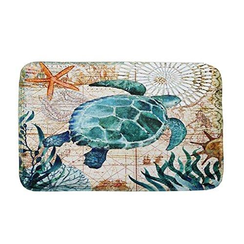Sothread 40x60cm Soft Non-slip Rectangle Creative Printed Carpet Mats Bath Area Rug Doormats (D) ()