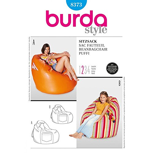 Burda Homeware Beanbag Chair Sewing Pattern Bean Bag Sewing Pattern