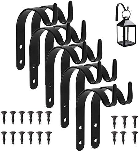 10 Pezzi Ganci da Parete per Pianta Porta pianta Appendere Gancio a Parete Appendiabiti per Appendere cestini, Vaso, Uccelli mangiatoie, Piante, Lanterne, Campanelle a Vento, Fiori, All'esterno