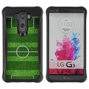 "Pulsar iFace Series Tpu silicona Carcasa Funda Case para LG G3 / D855 / D850 / D851 , Campo de fútbol Meta juego Meta"""