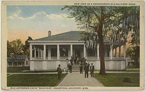 Jefferson Davis Homestead - Beauvoir - Gulfport Mississippi - Vintage 1931 Postcard