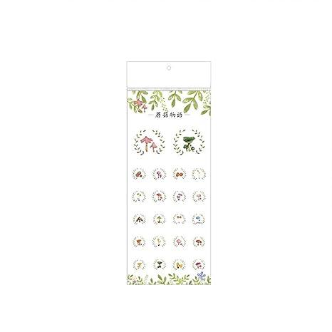 Calendario Funghi.Hacoly Adesivi Modello Di Funghi Sticker Bambini Per