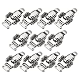 uxcell HS-022 Nickel Plated Iron Compression Spring Draw Toggle Latch Clamp, 65mm Long, Pack of 10