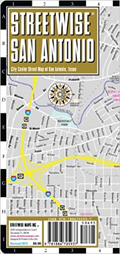 Streetwise San Antonio Map - Laminated City Center Street Map Of San Antonio, Texas - Folding Pocket Size Travel Map Download