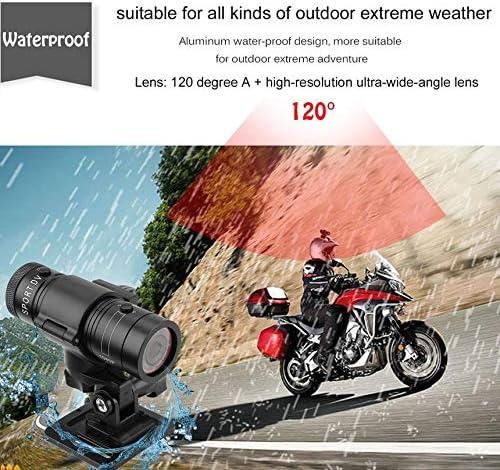 Libertroy Full HD 1080P DV Mini c/ámara Deportiva Impermeable Casco de Bicicleta Acci/ón DVR Video CAM 120 Grados Gran Angular F9 Negro Negro