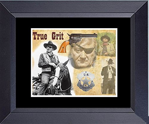 John Wayne Photo Collage True Grit Rooster Cogburn Framed Print 14 x 17 (Framed John Wayne Posters)