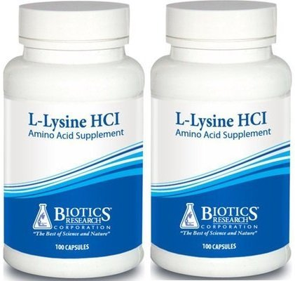 Biotics Research L Lysine HCI - 100 capsules (2 Bottles) by BIOTICS
