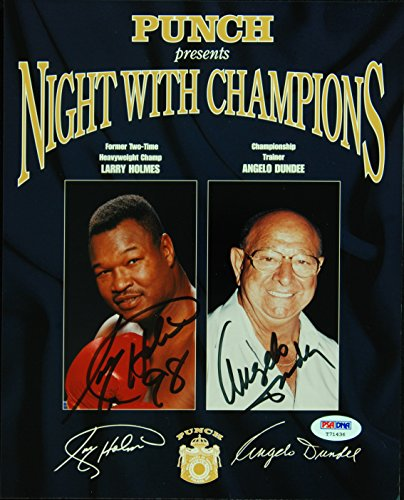 Larry Holmes & Angelo Dundee Signed 8x10 - Larry Holmes Photograph Shopping Results