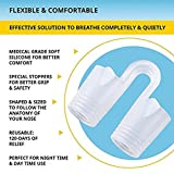 Anti-Snoring Nose Vent - Anti Snoring Nose Devices (4-Set 4-Size) - Medical Grade Silicone Nasal Dilator - Snore Reducing AIDS - Facilitates Airflow in The Nasal Passageways to Ease Breathing