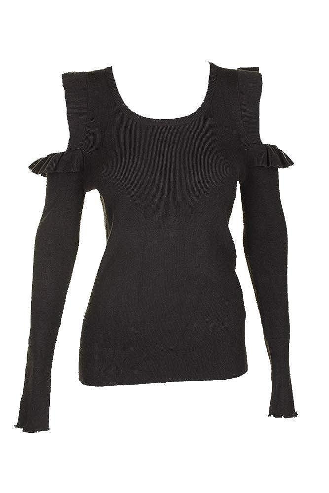 Jessica Simpson Juniors Ruffled Cold-Shoulder Sweater