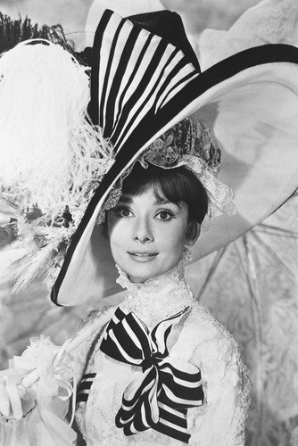 My Fair Lady Audrey Hepburn Large Fancy Hat 24X36 Poster (My Fair Lady Memorabilia)