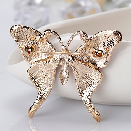 Finance Plan Women Retro Butterfly Multicolor Enamel Shiny Rhinestone Brooch Pin Jewelry Gift by Finance Plan (Image #8)