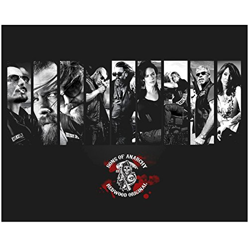 Sons of Anarchy 8 Inch x10 Inch Photo Cast Photo B&W Collage of Skinny Pics kn