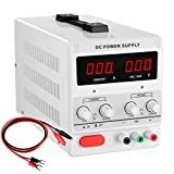 Yescom Adjustable Output 30v 5a Input 110v Precision Variable Digital Dc Power Supply w/ Clip Cable