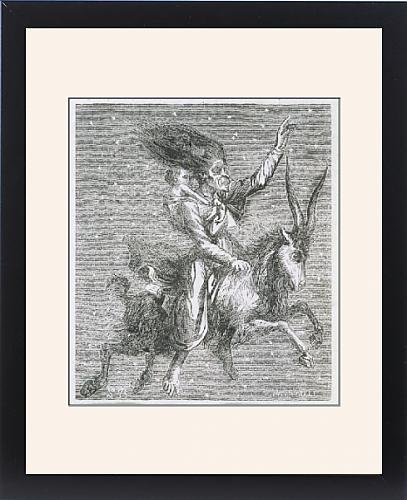 Framed Print Of Goat-Borne Witch by Prints Prints Prints