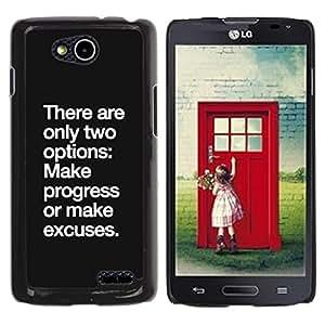 Be Good Phone Accessory // Dura Cáscara cubierta Protectora Caso Carcasa Funda de Protección para LG OPTIMUS L90 / D415 // progress no excuse motivational inspiring