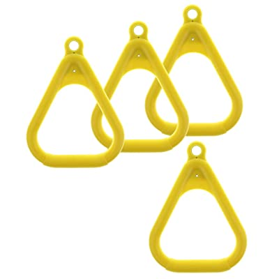 Toygogo 4 Pack Trapeze Ring Swing Set Playground Trapeze Bar Repalcement - Yellow: Sports & Outdoors