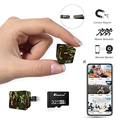 Spy Camera WiFi, Ehomful Mini Wireless Hidden Camera Real 1080P, Auto Night Vision Monochrome Covert,Built-in Magnet,No Lags & No Frozen Streaming,Works with Multiple Viewers by ehomful