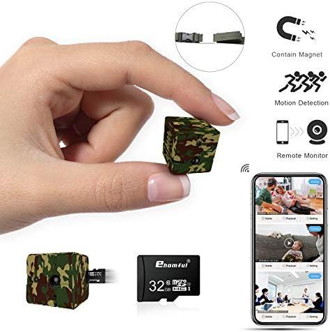 Mini Spy Camera Wireless Hidden Camouflage 32GB SD Card Combo