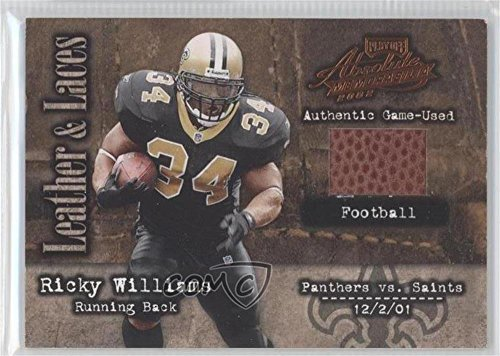 Ricky Williams #402/500 (Football Card) 2002 Playoff Absolute Memorabilia - Leather and Laces - Football #LL-45