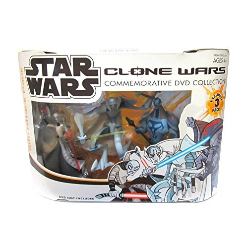 Star Wars Clone Wars Commemorative DVD Collection Exclusive SITH ATTACK 3 Pack with ASAJJ VENTRESS, GENERAL GRIEVOUS & DURGE Action -