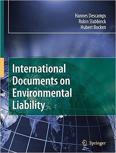 Book International Documents on Environmental Liability
