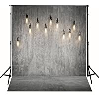 CXJ Palace interior chandelier Vintage Grey 5x6.5 FT Collapsible Suede Thick Cloth Fabric Customized Seamless 3D Printed Backdrop Backgrounds for Wedding Photo Photography Studio WY00031