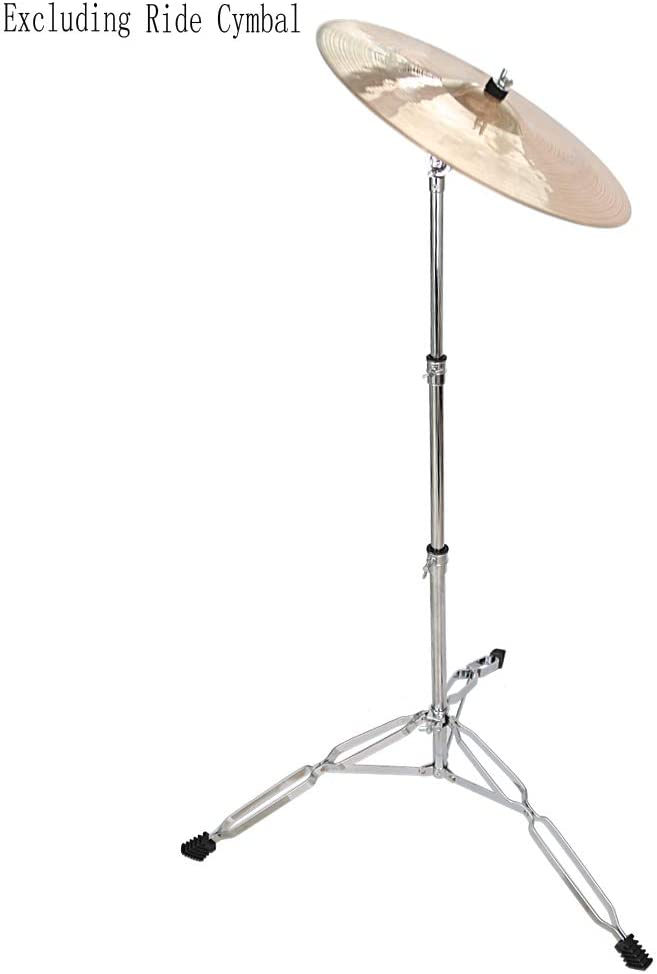 Kuyal Straight Cymbal Stand for Drum Hardware Percussion Mount Holder Gear Set-Silver Cymbal Stand