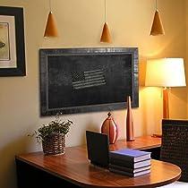 Rayne Mirrors American Made Tuscan Ebony Blackboard/Chalkboard, 53