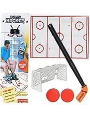 1 Pack Toilet Hockey Game Decompressie Leuk Spel Ijshockey Speelgoed voor Volwassen en 5 jaar oud kind Speelgoed Grappige Tijd door Perfect Life Idee