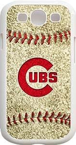 MLB Team Logo - Chicago Cubs Team Logo Samsung GALAXY S3 Cases - White - Chicago Cubs 3