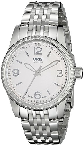 Oris Men's 733 7649 4031 MB Swiss Hunter team PS edition Analog Display Automatic Self Wind Silver Watch