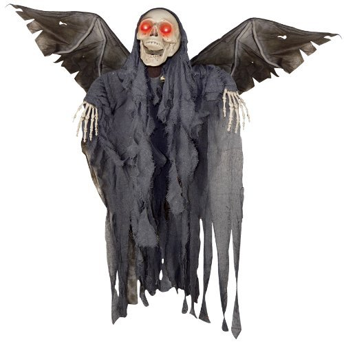 Sunstar 4ft Animated Winged Reaper Halloween Décor