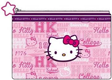 Hello kitty-Estuche plano, color rosa con country collection: Amazon.es: Hogar