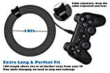 for PS3 Controller Charging Cable, 2 Pack 10Ft Mini