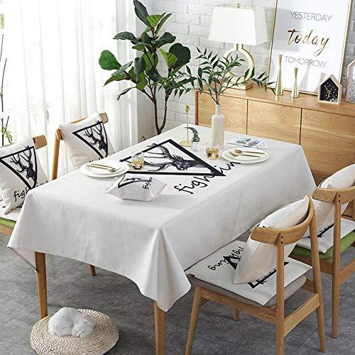 YQ QY Nappe Nappe De Table Imperméable Lourd épaissir Coton Et Lin en Tissu Cuisine Accueil Fête Festival Café Extérieur Nappe Nappe (Couleur   Sketch Deer, Taille   140  200cm)