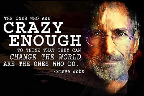 068c85f91dc Amazon.com: Motivational Classroom Poster Steve Jobs Growth Mindset ...