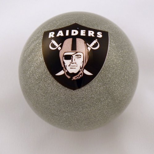 Oakland Raiders Nfl Billiard Ball - NFL Billiard Ball * All teams and colors * Great for replacement (Oakland Raiders Silver)
