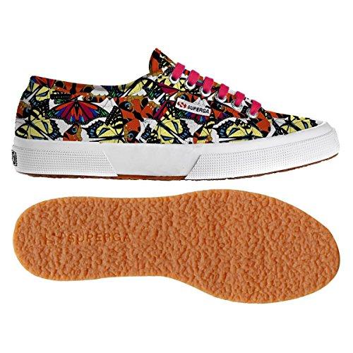 Fantasy Donna Superga Sneaker Cotu Wht 2750 butterflymultico qwI4I6